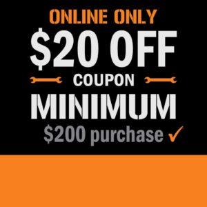 Home Depot $20 off $200