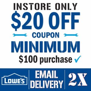 Lowes $20 off $100