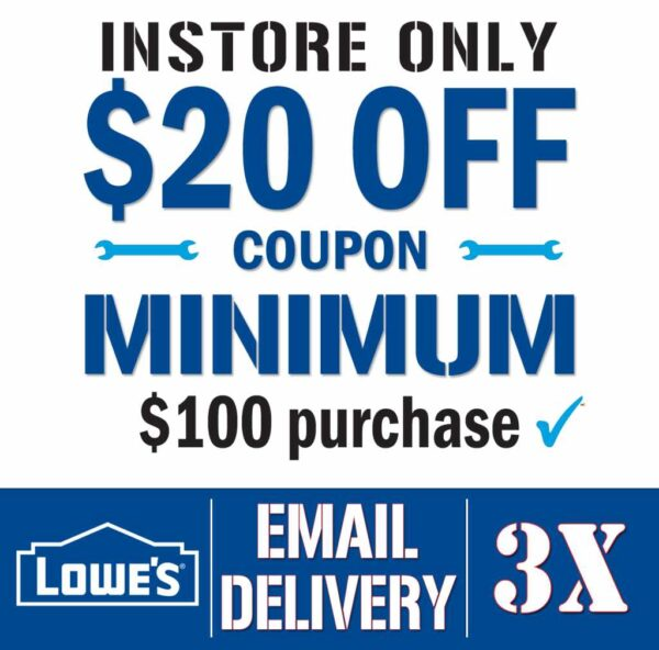 Lowes Coupon $20 off $100